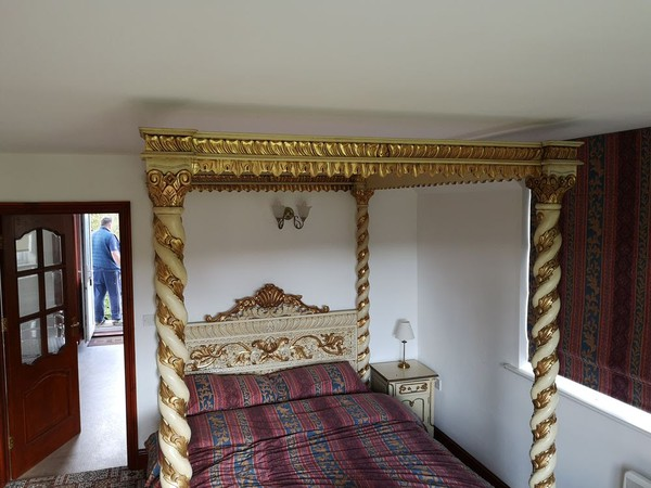 Ornate four poster bed for sale