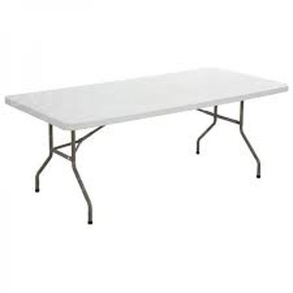 White Plastic Trestle Tables For Sale