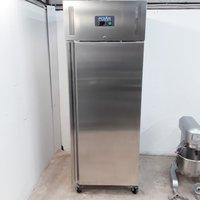 Ex Demo Polar U633 Stainless Single Upright Freezer Heavy Duty (W10136)