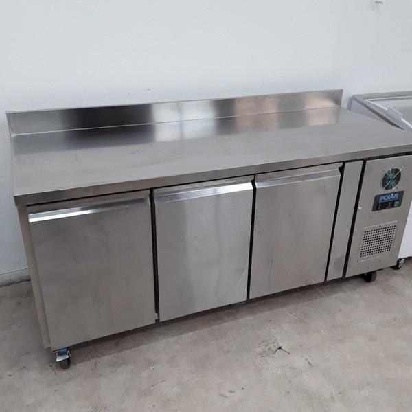 New B Grade Polar DL917 3 Door Bench Freezer