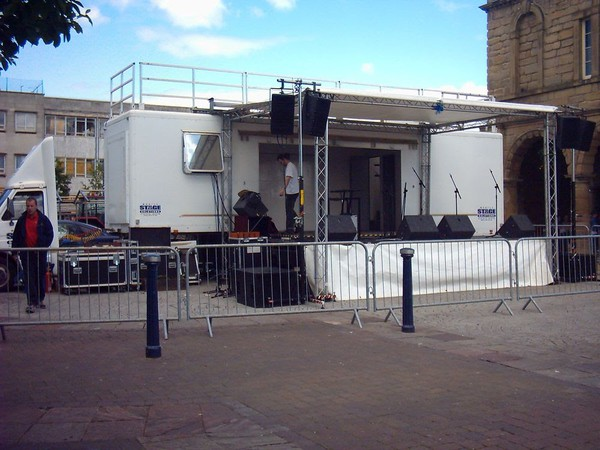 Exhibition Stage Trailer Rig