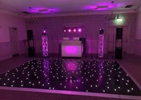 Second Hand Black LED Dance Floor 16x16ft For Sale
