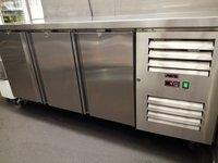 Saro Commercial Stainless Steel Triple 3 Door Counter Refrigerator Food Prep Fridge - London
