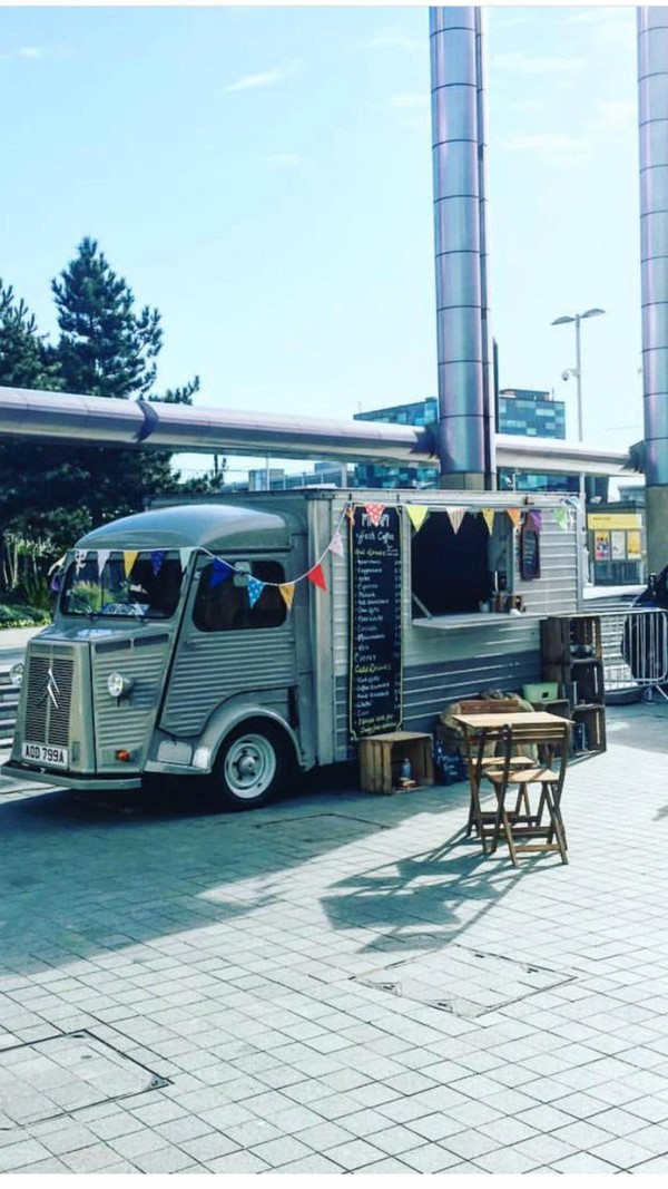 retro van used for mobile coffee shop business