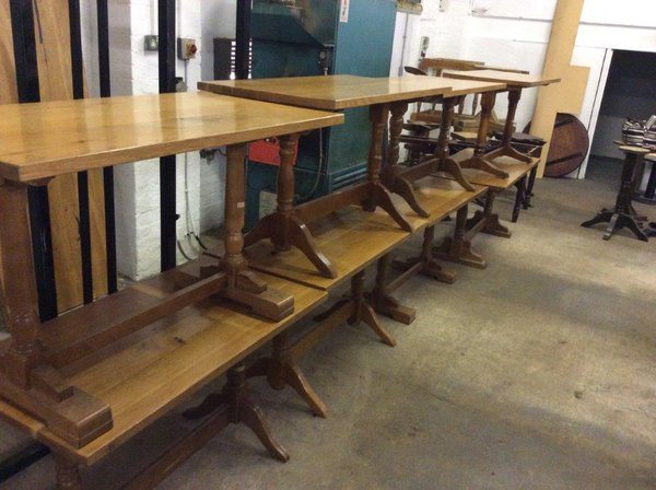 Joblot Dining Tables With Solid Oak Tops