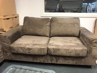 Buy Brown Faux Suede Sofa Bed Dorset