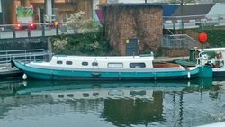 50ft Dutch Barge Liveaboard Narrowboat Canal Boat for Sale