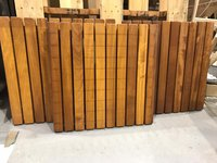 3 x Iroko Slat table tops 600sq