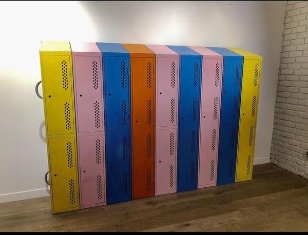 School locker bright colours