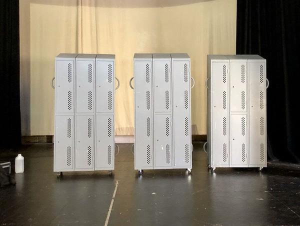 School lockers on wheels
