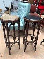 Bentwood high bar stool
