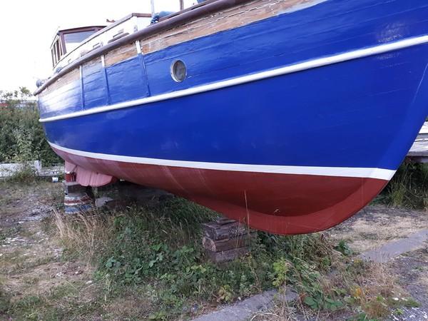 34ft Wooden Motor Sailor Built 1922 Ideal Liveaboard Boat