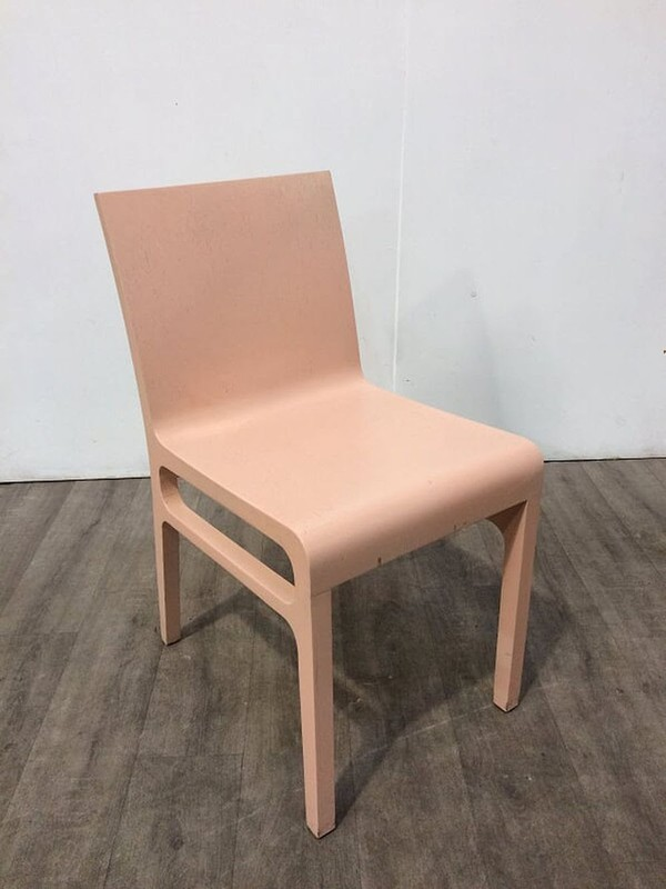 Joblot  Pink Pressed Plywood Chairs