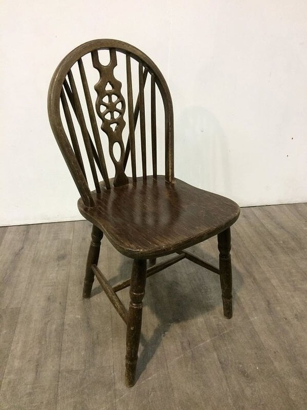 Job Lot Of Wheelback Wooden Chairs