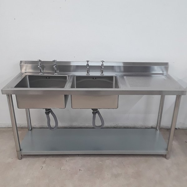 Brand New Diaminox Stainless Steel Double Sink