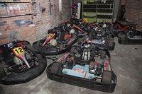 Fleet of 15 Eglem  professional karts