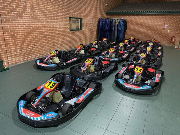 Fleet of 15 Eglem professional karts