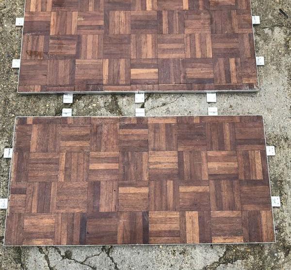 1m x 0.5m Parquet dance floor panels
