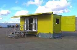 6.5m Professional build Exhibition Trailer with slide-out seating area