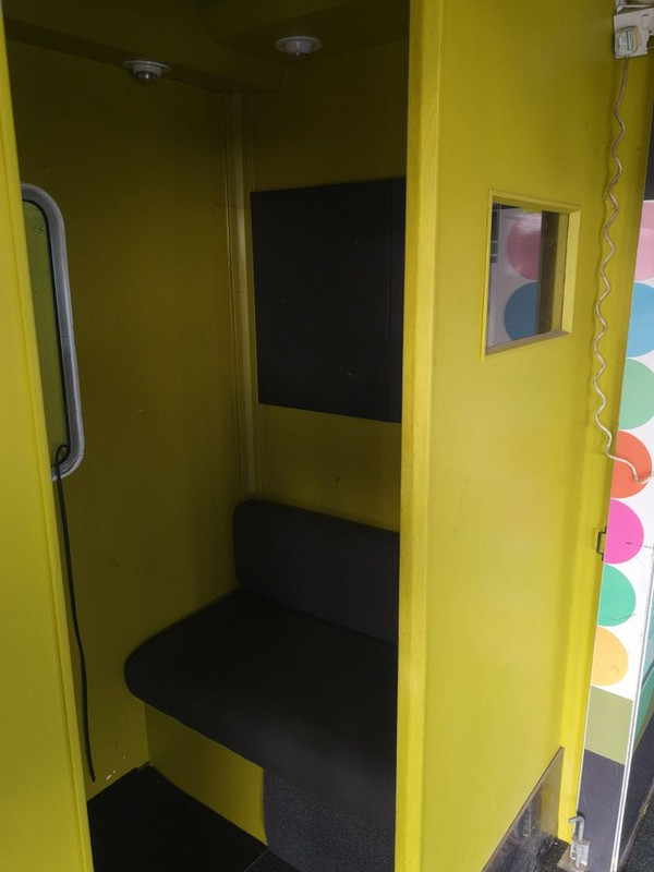 Selling Exhibition Trailer with slide-out seating area