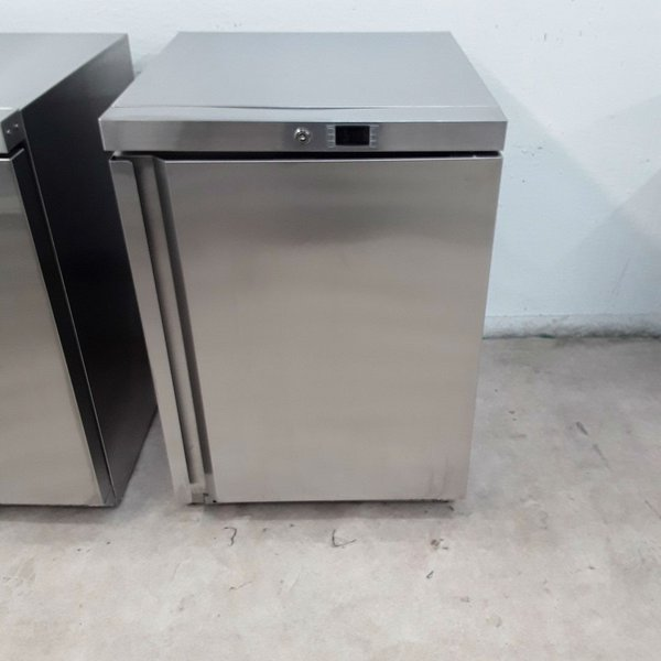 Stainless steel under counter fridge