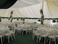 40' x 60 Ivory pleated lining