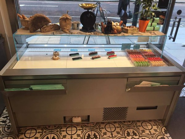 Patisserie display counter