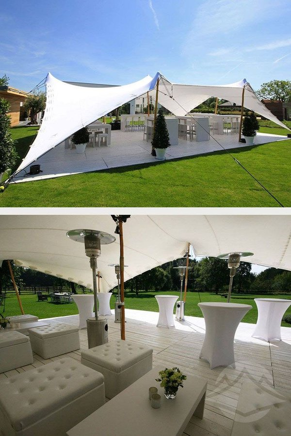 *BRAND NEW* 10m x 15m White Stretch Tent