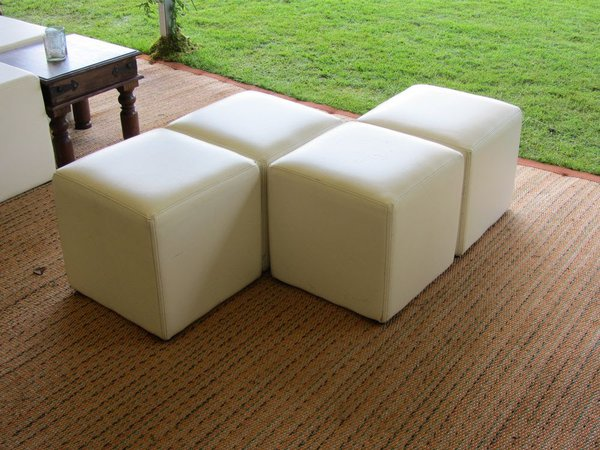 White leather cubes for sale