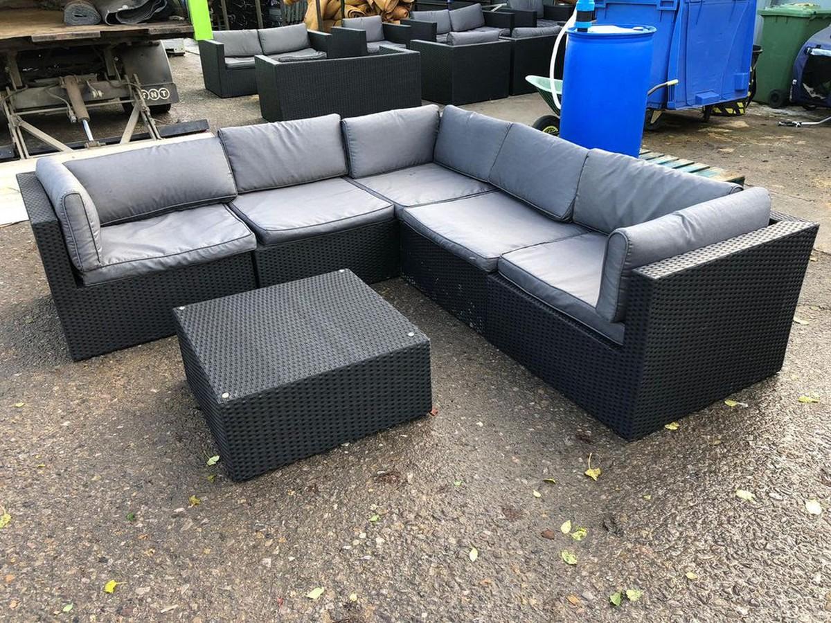 8x Black Rattan Furniture - Gloucestershire