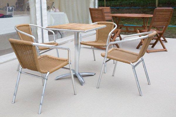 Aluminium outdoor event furniture