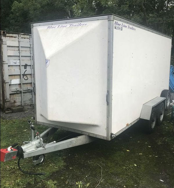 14Ft Blue Line Box Trailer for sale