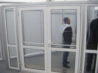 Used 3m wide glass doors, with glass side panels