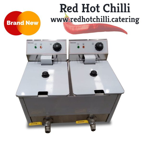 Twin tank electric counter top fryer for sale