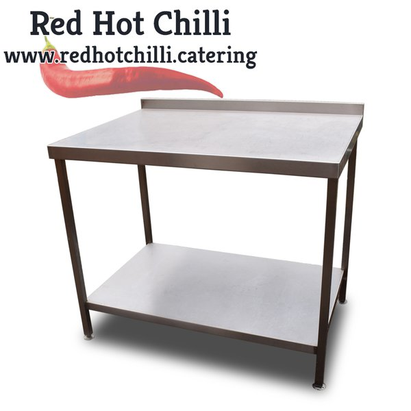 1.1m stainless steel catering table