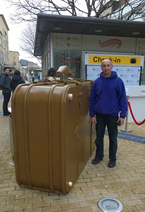 Giant suit case for sale
