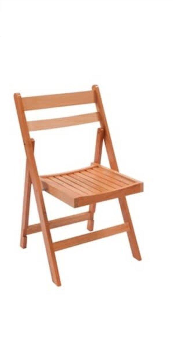 Folding Wooden Oak chairs for sale
