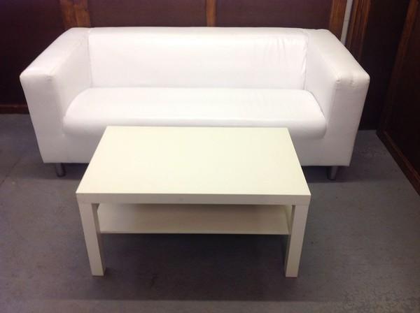 Stunning White Leather Sofas