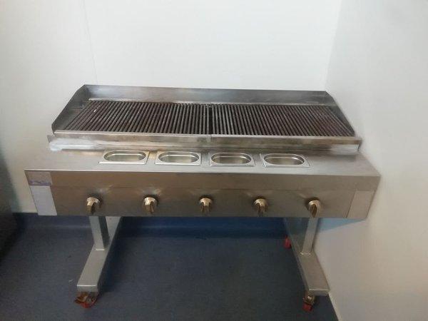 Unique 5 Burner Nat Gas Chargrill