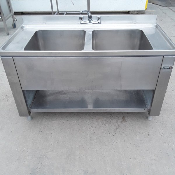 Used Boppas Stainless Steel Double Sink