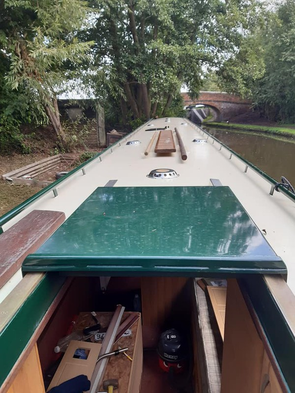 Narrowboat ELIZA Stern