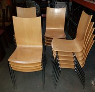 Stacking Plywood cafe chairs
