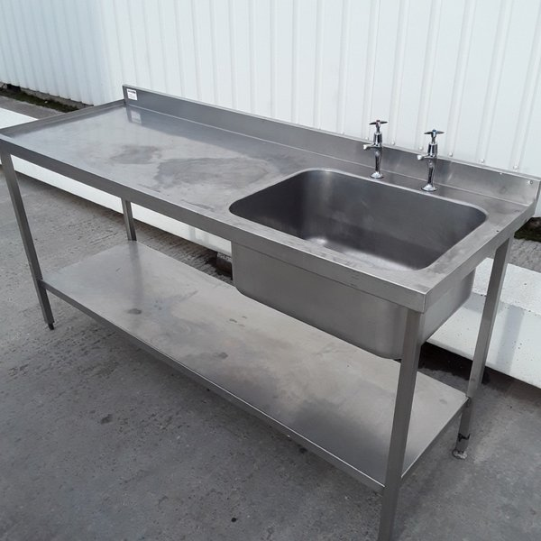 Used Stainless Steel Single Bowl Sink.