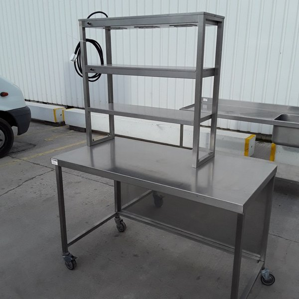 Used Heated Gantry Hot Lights Table