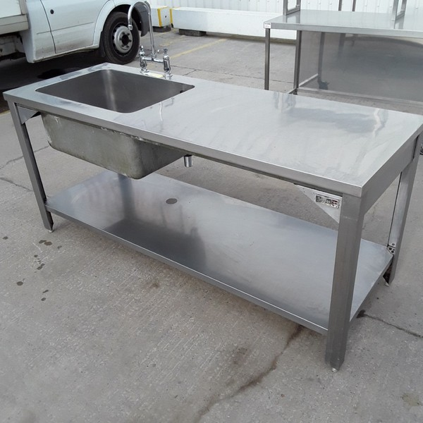 Used Boppas Stainless Steel Single Bowl Sink