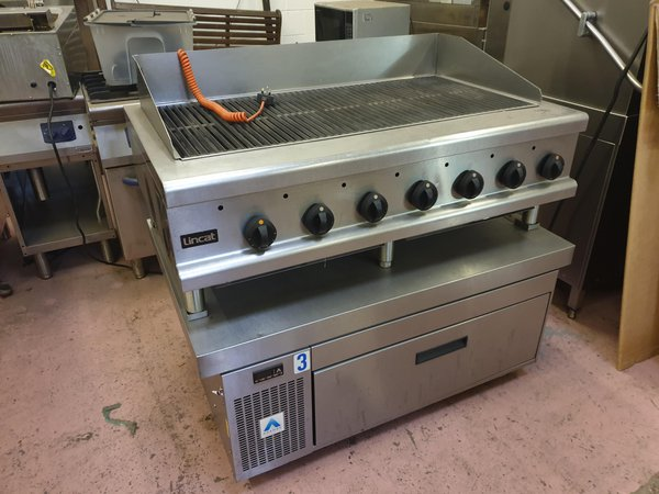 Lincat Opus Gas Char Grill On Adande Refrigerated Drawers -