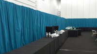Blue drape / marquee wall lining