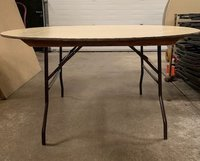 5ft round wooden trestle tables for sale