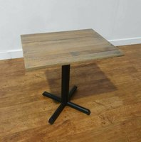 Fabulous Rustic Hardwood Table with New Cast Iron Table Base 700x550