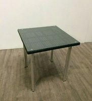 Rattan Table With Glass Top For Sale